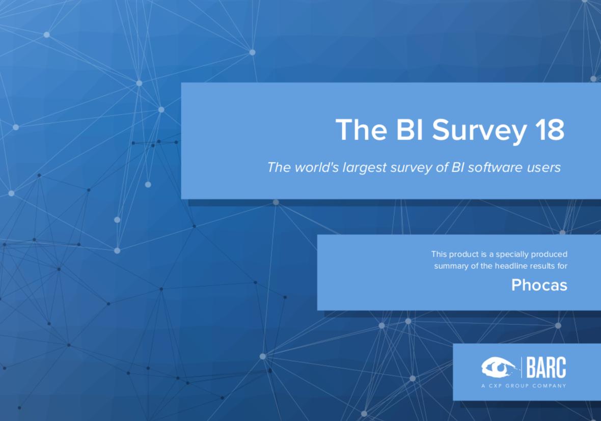 The BARC BI Survey 18