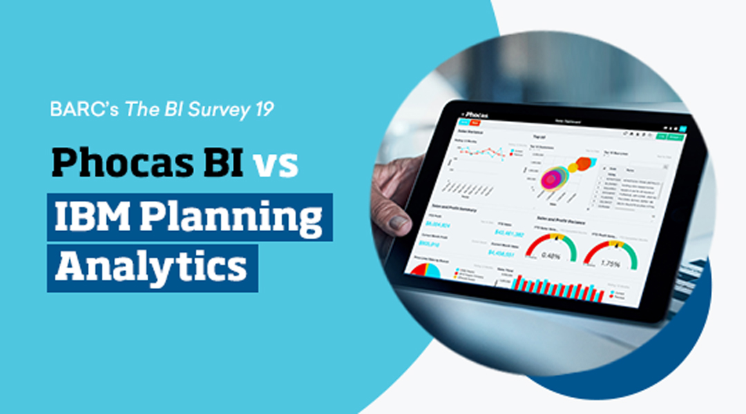 Phocas vs IBM Planning Analytics (BI tools comparison based on BARC 19)