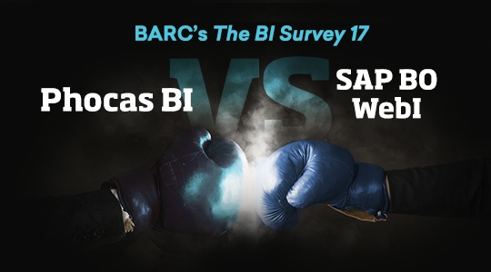 Phocas BI vs SAP BusinessObjects Web Intelligence (user reviews from BARC's The BI Survey 17)