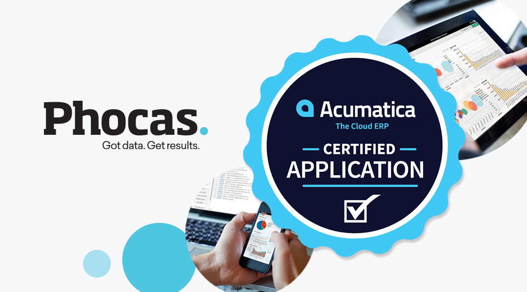 Phocas data analytics solution certified by Acumatica