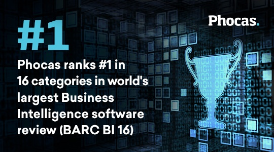 Phocas ranks #1 in 16 categories in world's largest BI software review (BARC The BI Survey 16)